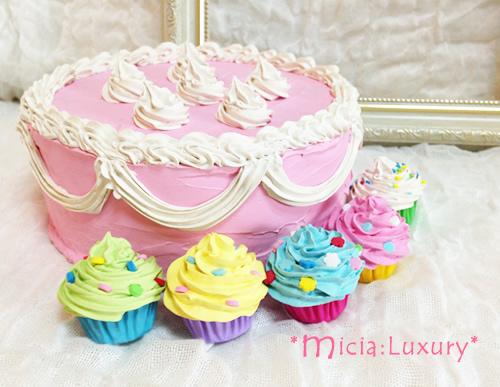 撮影小物フェイクデコレーションケーキ