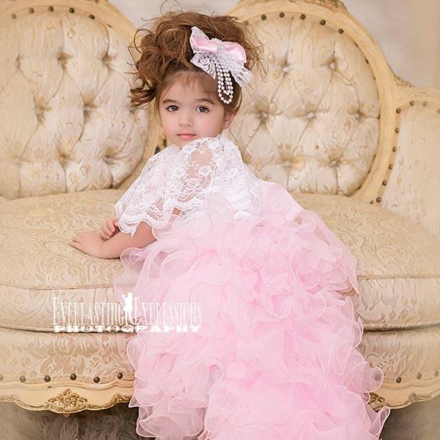 シュガーパフのくしゅくしゅハイロードレス「Sugar Puff Ruffles High Low Dress」2歳から10歳