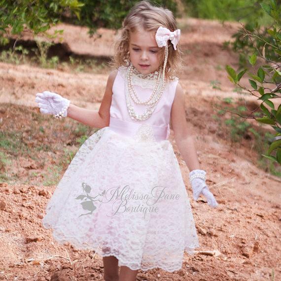 スウィートデリケート レースのエプロンドレス「Sweet Delicate Girls Lace Apron Dress」1歳から14歳