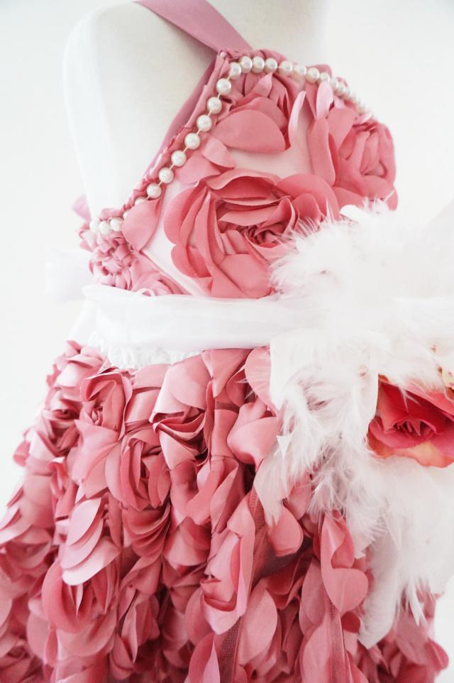ピンクローズのフェザードレス☆【Yuzu】
