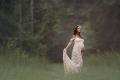 【マーメイドスタイル】ビアンカドレス●ドループスリーブのマタニティドレス