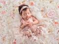 Newbornドレス☆小さなプリンセスに!花びらのメッシュドレス♪0ヶ月〜12ヶ月