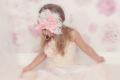 お花×リボン×フェザー☆ピンクのリボンと薔薇のヘッドドレス