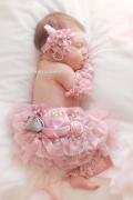 お花×パール×レース☆ヴィンテージピンクのヘッドドレス