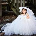 舞踏会の華 ハンドメイドのチュチュドレス「Bella of the Ball Girls HandmadeTutu Dress w・Train」0歳から6歳