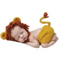 ライオンに変身♪かぎ針編みのライオン帽子とパンツのコスチュームセット