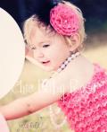 ファー&フラワーヘッドドレス♪カラフルベビーロンパースとお揃い!全14色カラー♪ハーフバースデー・誕生日!