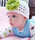 ガーデンパーティービーニー帽子☆付け替えOK!選べる3つのお花☆ newborn/ハーフバースデー