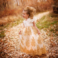 黄金の黄昏 プリンセスドレス「Gold Dusk Princess Girls Dress」1歳から10歳