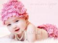 ビーニー&フラワーヘッドドレス♪6-24months 全21色☆出産祝い・ハーフバースデー・1才誕生日・プレゼントに!
