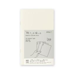 9c5e0b3f33 ノート/メモ帳 MDノート ライト<新書> 横罫 3冊組(15210006) ミドリ ...