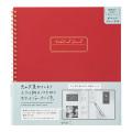 ノート ポケット付 赤(15262006)