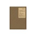 片面透明袋<S> クラフト ピンストライプ柄 黒(18753006)