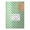片面透明袋<M> メタリック ストライプ柄 緑(18811006)