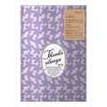片面透明袋<M> メタリック 小花柄 紫(18812006)