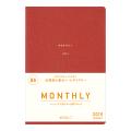 【2019年版】ミニマルダイアリー<B6> 月間 赤(27747006)★送料無料★