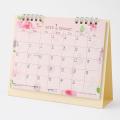 【2020年版】カレンダー 卓上リング<M> カントリータイム 花柄(30017006)