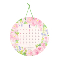 【2020年版】壁掛カレンダー 丸形 カントリータイム リース柄(30188006)
