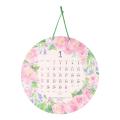 【2019年版】壁掛カレンダー 丸形 カントリータイム リース柄(30903006)