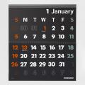 完売しました★【2020年版】イノベーター カレンダー壁掛<L> 黒(30916006)