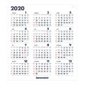 【2020年版】イノベーター カレンダーポスター(30920006)