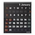 【2022年版】イノベーター カレンダー壁掛<L> 黒(30924006)