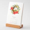 取扱終了★【2021年版】季節をのぞくカレンダー 花柄(31010006)