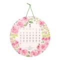 【2021年版】壁掛カレンダー 丸形 カントリータイム リース柄(31014006)
