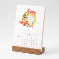 【2022年版】季節をのぞくカレンダー 花柄(31207006)