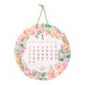 【2022年版】壁掛カレンダー 丸形 カントリータイム リース柄(31211006)