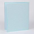 カラー色紙 二つ折り 花柄 ブルー (33147006)