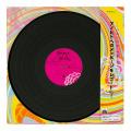 カラー色紙 LPレコード柄 (33173006)