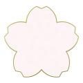 カラー色紙 ダイカット 桜 ピンク