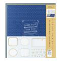 カラー色紙 寄せ書きシール36枚付 ケース入 紺(33243006)