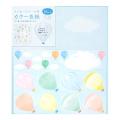カラー色紙 寄せ書きシール16枚付 気球柄(33245006)