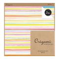 【Origami】オリガミ<15角> 水彩 ボーダー柄