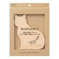 ホワイトボード<M> 木製 猫柄(35436006)