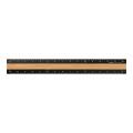 アルミ&ウッド 定規〈15cm〉 黒(42270006)