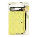 パスケース リール付き 花柄 黄色(57432006)