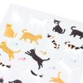 シール2277 小さなネコ柄