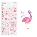 手帳シール カラー ピンク柄(82558006)