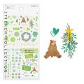 手帳シール カラー 緑柄(82561006)