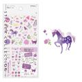 手帳シール カラー 紫柄(82562006)