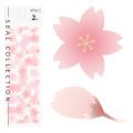シール <2枚>桜柄  (83431006)