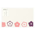 カード<名刺サイズ> てのひら 花柄 (85629006)