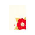 ポストカード 椿柄 赤(88546006)