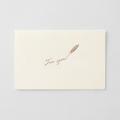 【限定】greetings カード フリー 羽ペン柄(91803606)