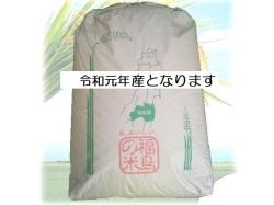 【送料無料】令和元年(2019年産古米) 福島県中通り産コシヒカリ 25kg