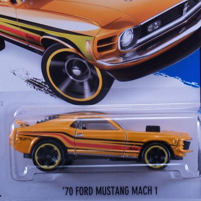2014 HW CITY / '70 Ford Mustang Mach 1 (YLW) / '70 フォード・マスタング マッハ1