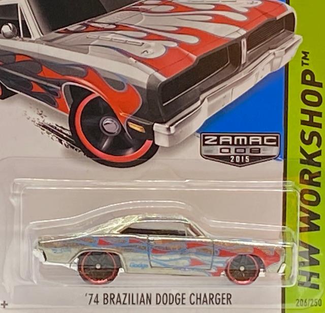 2015 HW Workshop Heat Fleet / '74 Brazilian Dodge Charger / '74 ブラジリアン ダッジ チャージャー【Walmart Exclusive】
